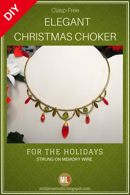 Scalloped Christmas Choker inspiration sheet