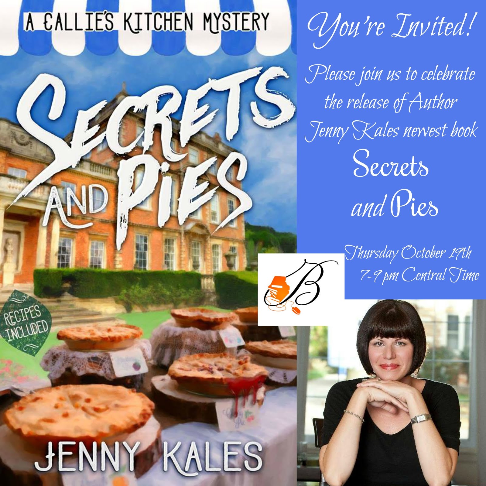 Join us for the Release Party of Jenny Kales Secrets and Pies!