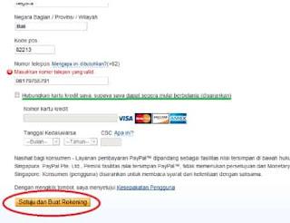 Tutorial Cara Membuat Akun Paypal tanpa verifikasi