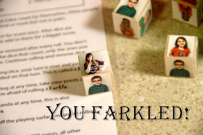 You farkled die for Classroom farkle game