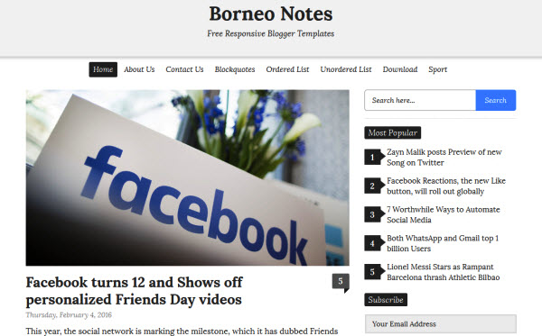 Borneo Notes Blogger template