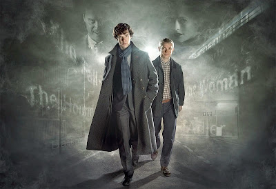 Benedict Cumberbatch and Martin Freeman as Sherlock Holmes and John Watson in BBC Sherlock Season 2 A Scandal in Belgravia