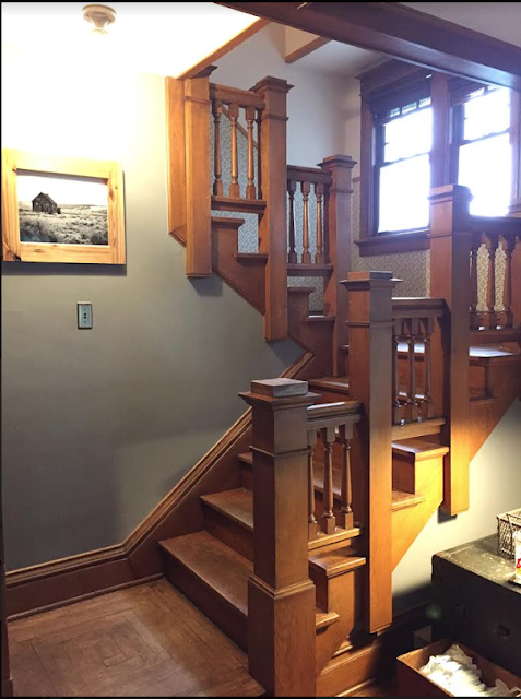 Sears craftsman newel and Sears colonial balustrade Sears Sherburne staircase