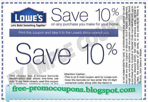 lowes online coupon september 2019