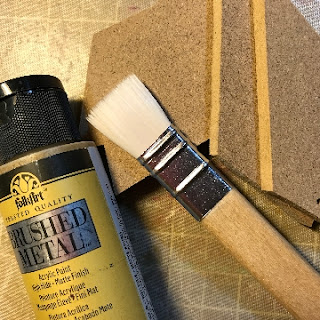 Painting Star Points with FolkArt Brushed Metal Acrylic Paint