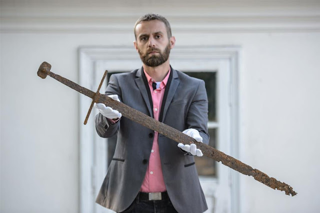 Medieval sword discovered at Polish peat bog