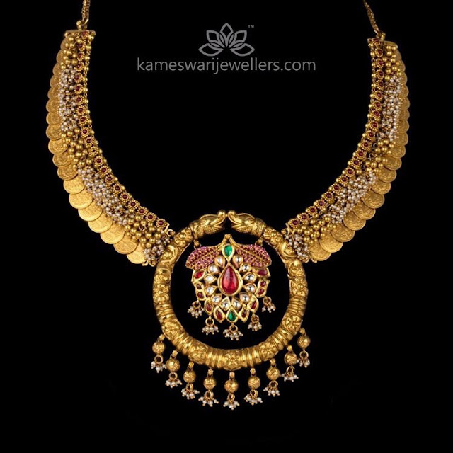 Kasu Necklace by Kameswari Jewellers