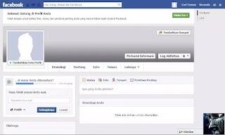 Cara Akun Facebook Tanpa Nama
