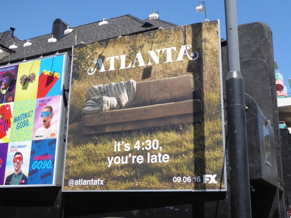 Atlanta youre late sofa billboard