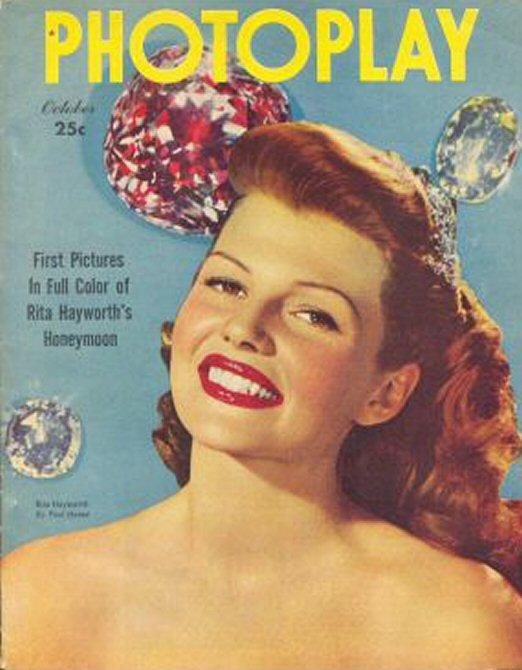 Rita Hayworth On Vintage Movie Magazine Covers Vintage