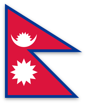 Nepal flag image graphic (PNG format)