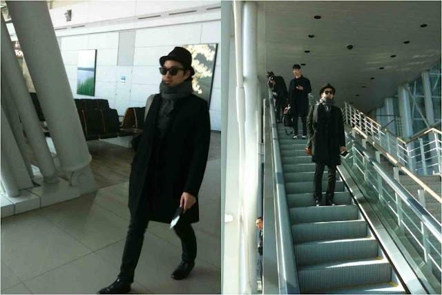 Gong Yoo airport fashion
