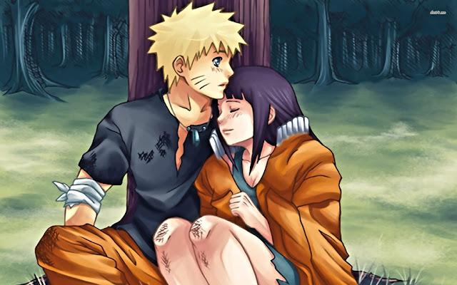 Hình ảnh Naruto và Hinata hôn nhau thật thấm thiết