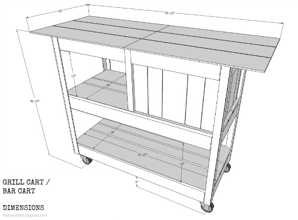 diy grill cart free plans