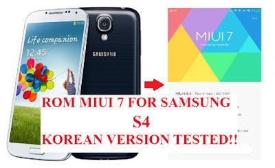 Cara, Instal, Custom, Rom, MIUI 7, Samsung S4, Korean Version, SHV-E300K, E300L, E300S, pasang, samsung, android,