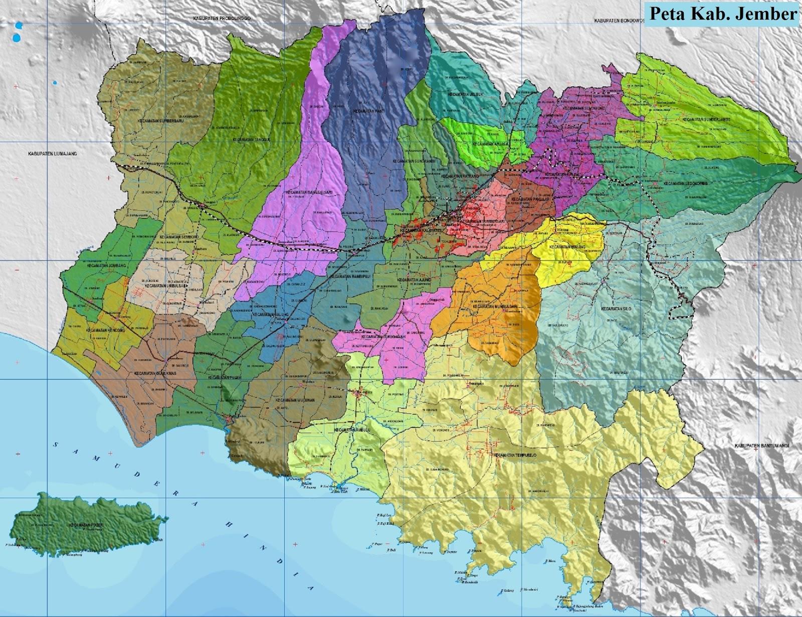 Peta Kabupaten Jember
