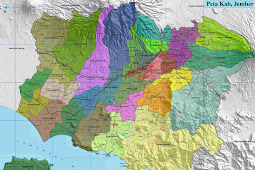 Peta Kabupaten Jember HD Lengkap dan Keterangannya