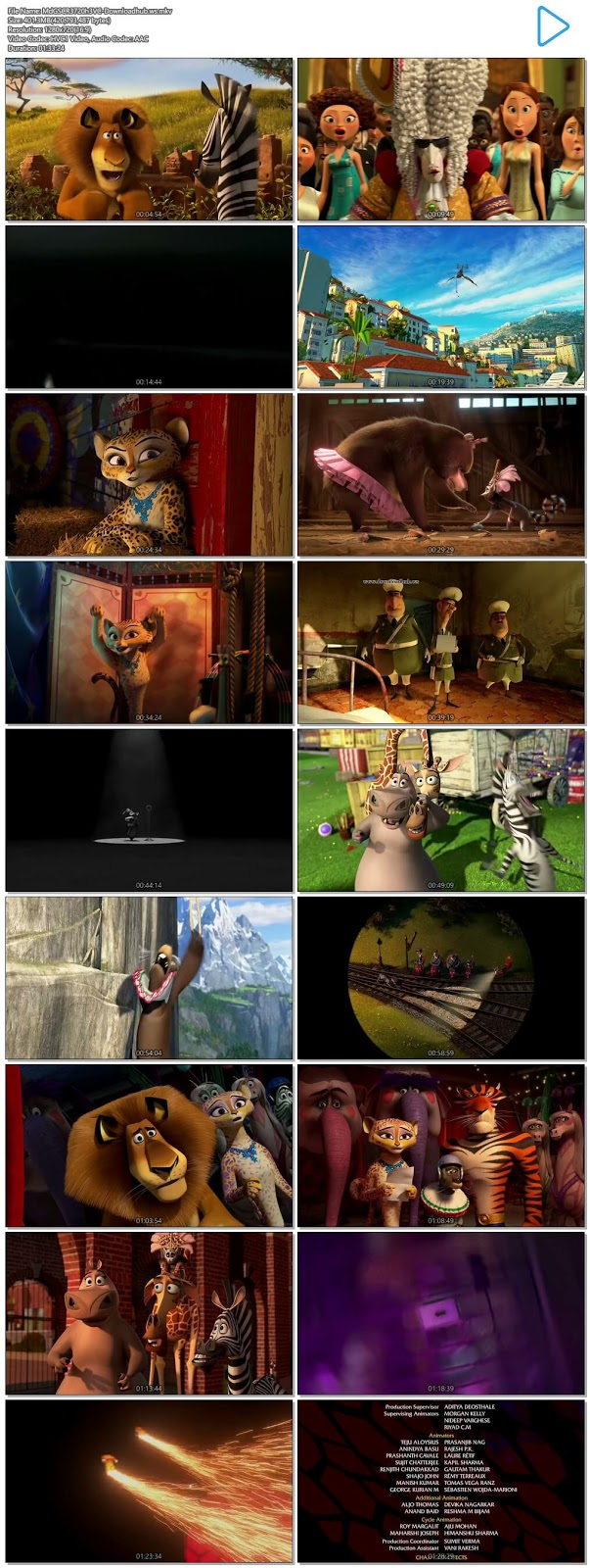 Madagascar 3 Europes Most Wanted 2012 Hindi Dual Audio 720p HEVC BluRay Free Download