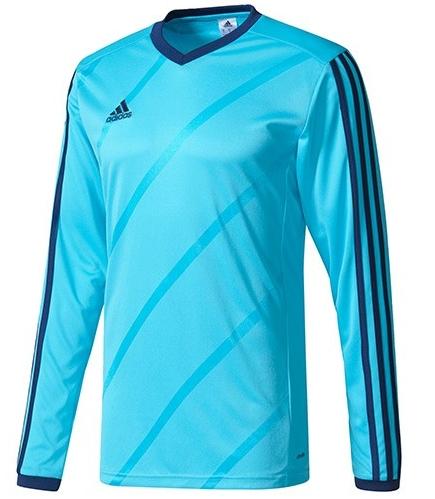 Desain Kaos Futsal Adidas Warna Biru Kombinasi Hitam Lengan Panjang 7a02f17271