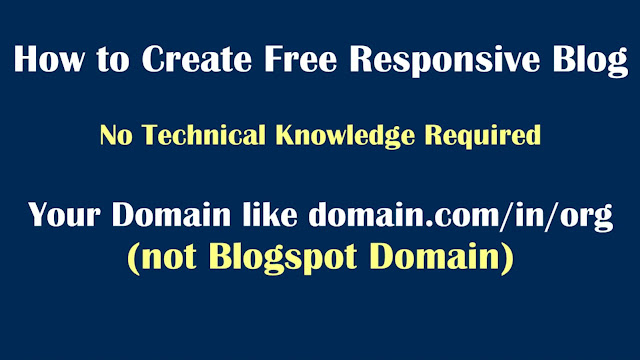 How to create your own website or blog with custom domain setup on Blogger
