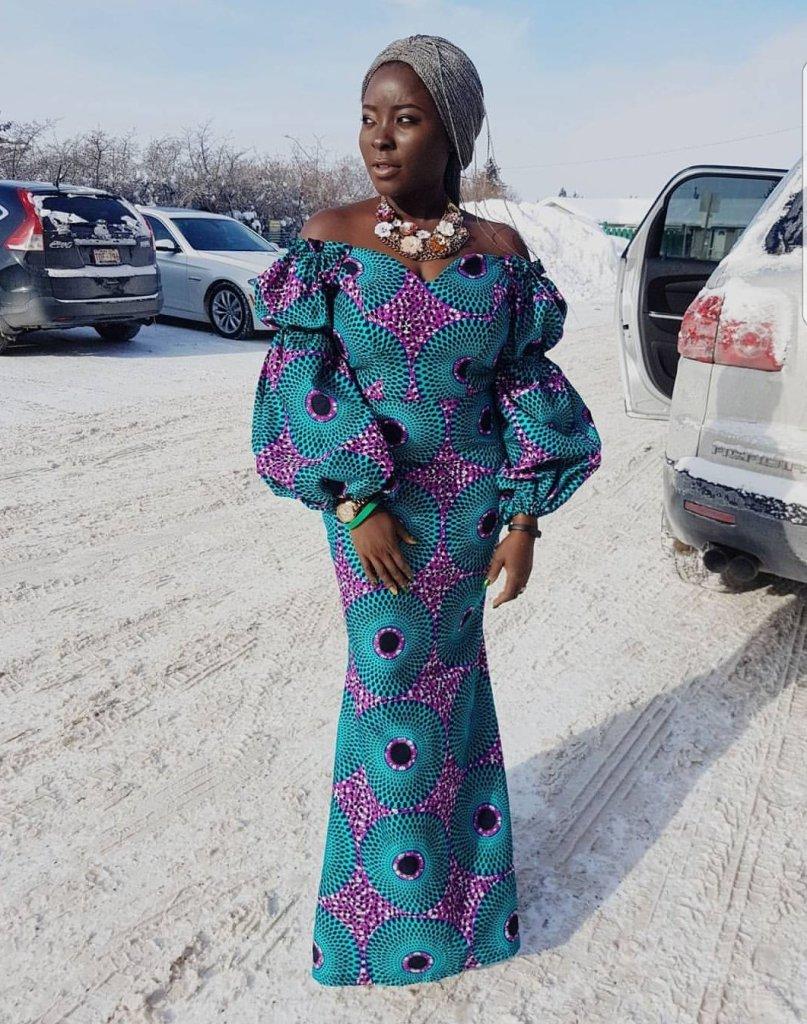 African Dresses Print Ankara Long Gown Styles 2018 Ankara Hub