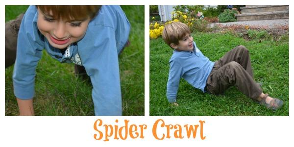 Spider crawl Halloween game