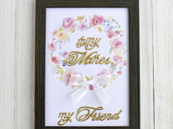 Mother's Day Glitter Framed Art