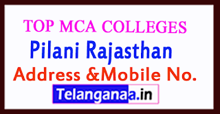 Top MCA Colleges in Pilani Rajasthan
