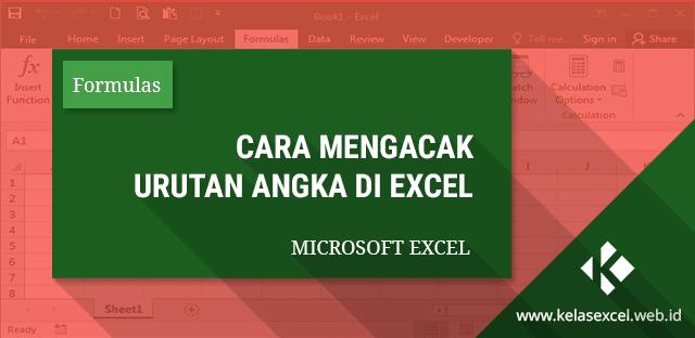 Cara Mengacak Urutan Angka di Excel