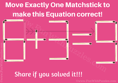 Answer of Fun Matchstick Maths Problem