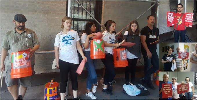 Piquetean y ocupan oficina de concejal Rodríguez por su apoyo a rezonificación en el Alto Manhattan