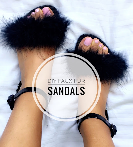 DIY Faux Fur Sandals