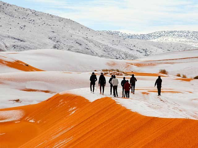 Ice in Sahara Desert