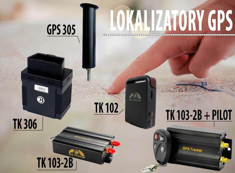 Różne dostępne lokalizatory GPS