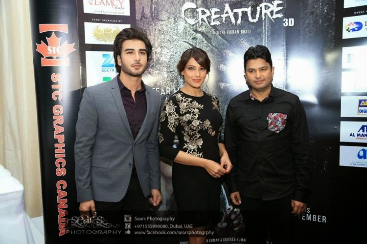 Celebs Bipasha  and Imran  promote their movie Creature 3D in Dubai
