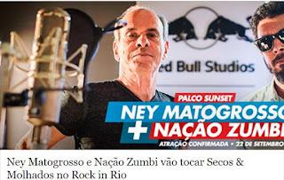 Resultado de imagem para ney matogrosso e naçaõ zumbi 2017