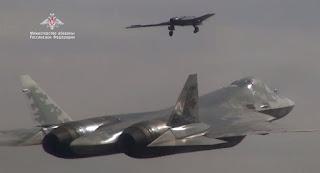 Drone Su-70 Okhotnik Rusia