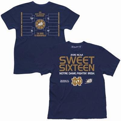 Notre Dame Sweet 16 T-Shirt, ncaa sweet 16 t-shirts, 3x big and tall notre dame sweet 16 tee, fighting irish sweet 16 t-shirt