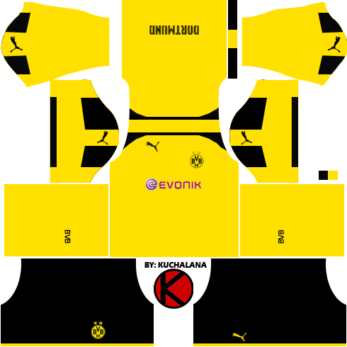 Borussia Dortmund 2016/17 - Dream League Soccer Kits 2017 and FTS15