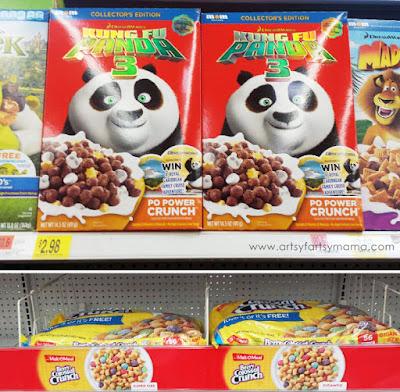 Kung Fu Panda Cereal Cupcakes at artsyfartsymama.com #CerealAnytime