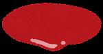 ハンバーガーの具材のイラスト(ケチャップ)