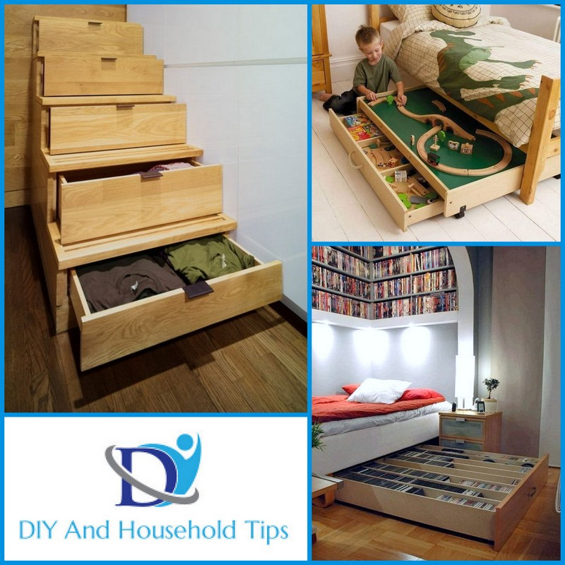 Apartment Space Saving Ideas: DIY And Household Tips: 15 Apartment Space Saving Ideas