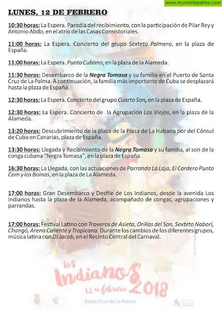 Programa Indianos 2018 La Palma