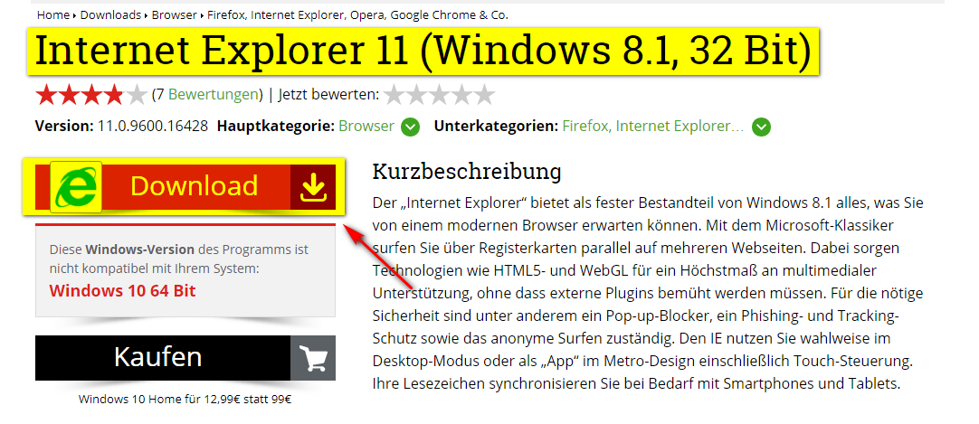 Difference Between Internet Explorer 11 32 Bit And 64 Bit