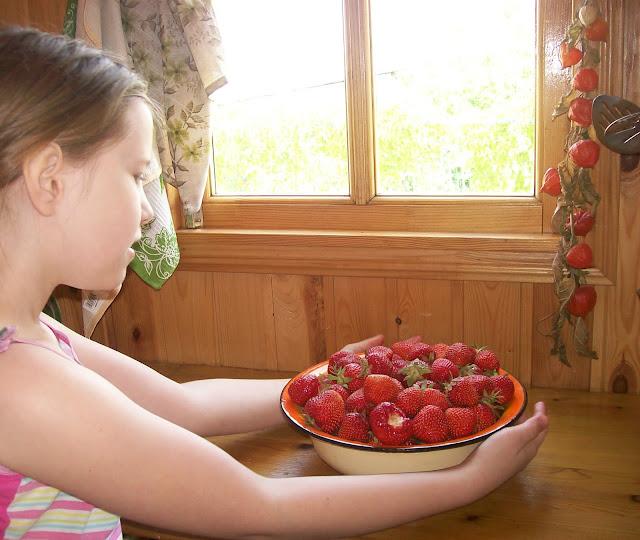 дары лета: ягода - клубничка