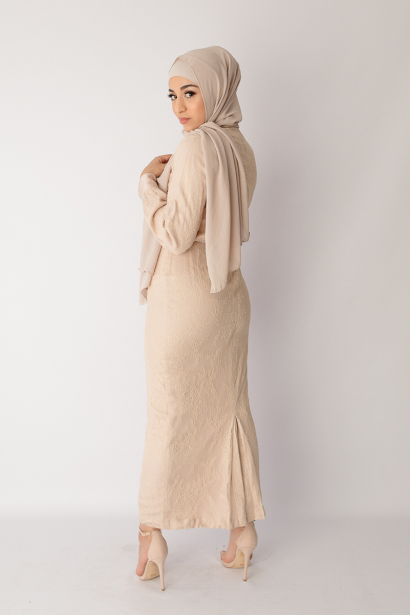 lace dress muslimah baju lebaran terbaru