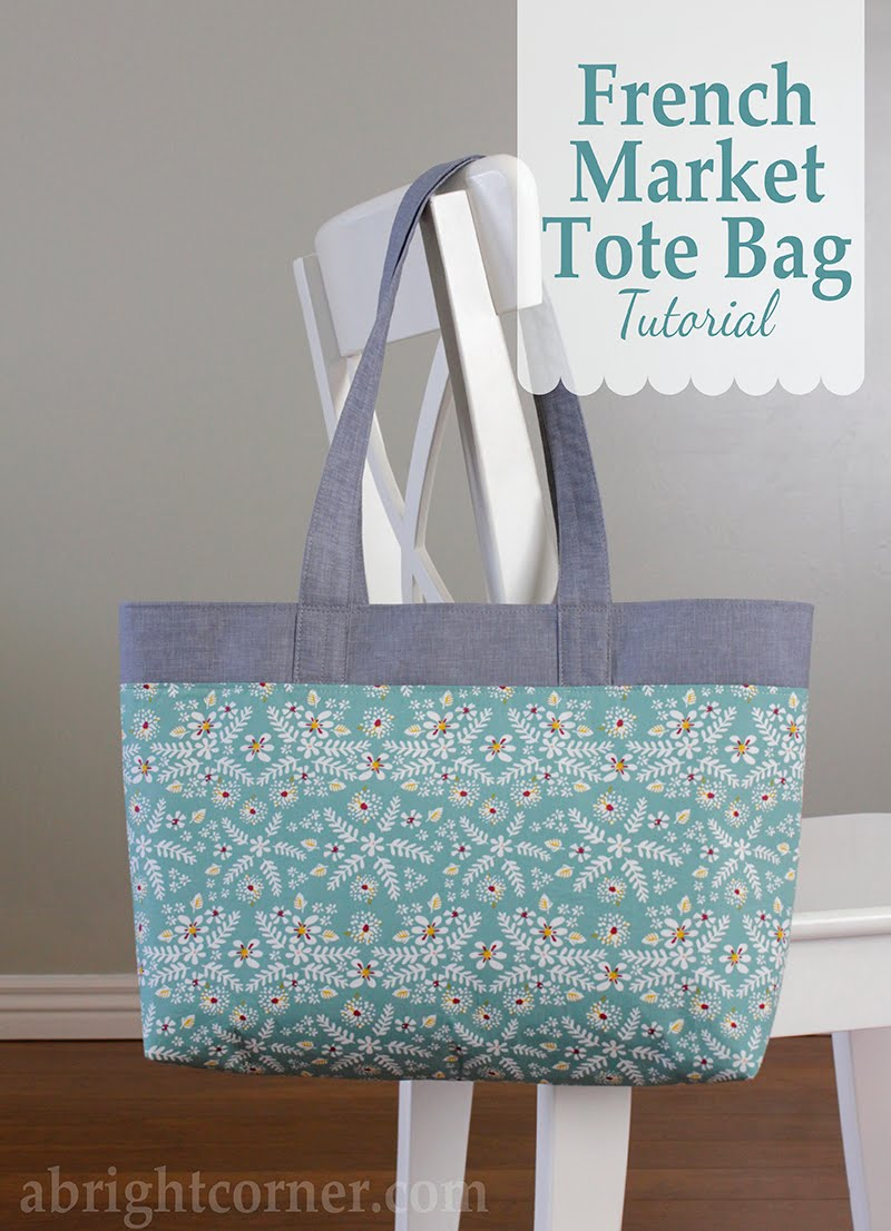 A Bright Corner French Market Tote Bag
