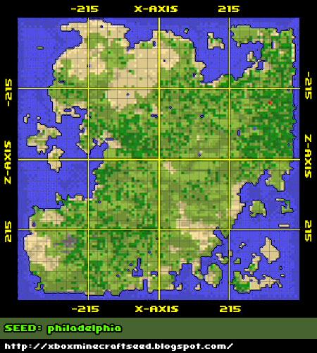 XBOX Minecraft Seeds: Seed & Map: philadelphia on map darfur, map vikings, map earth,