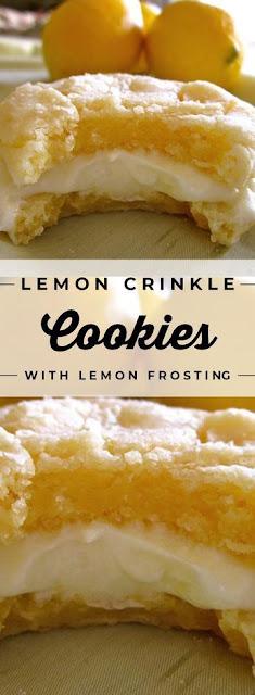 Lemon Crinkle Cookies with Lemon Frosting