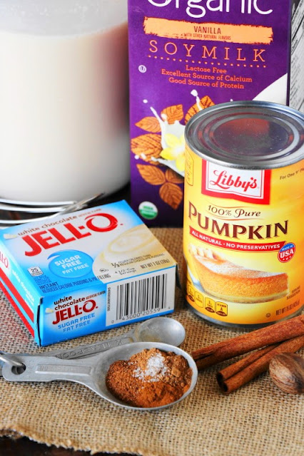 Image of Ingredients to make White Chocolate Pumpkin Nog